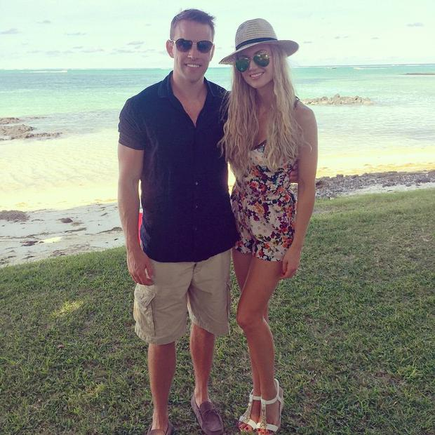 Rosanna Davison, pictured with her husband, Wesley Quirke.