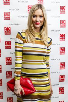 Laura Whitmore attends and hosts the PANDORA & BHF afternoon tea