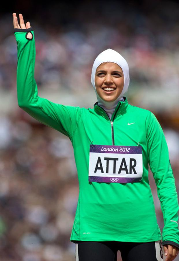 Sarah Attar, the first woman from Saudi Arabai to compete in the Olympic Games