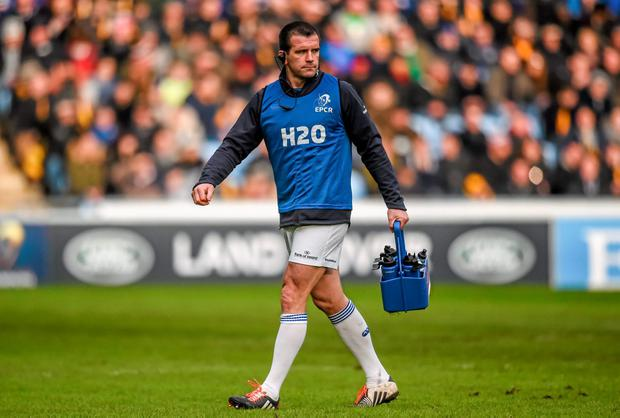 24 January 2015; Leinster water carrier Shane Jennings. European Rugby Champions Cup 2014/15, Pool 2, Round 6, Wasps v Leinster. Ricoh Arena, Coventry, England. Picture credit: Stephen McCarthy / SPORTSFILE