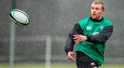 Keith Earls during squad training
