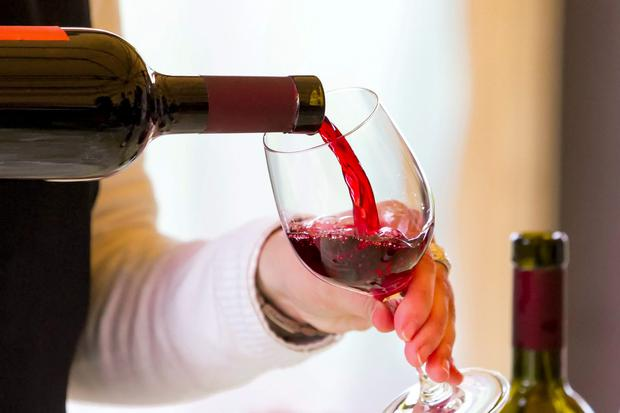 A large glass of wine contains three units of alcohol.