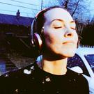 Kathryn Thomas went for a run in the snow. Picture: Twitter