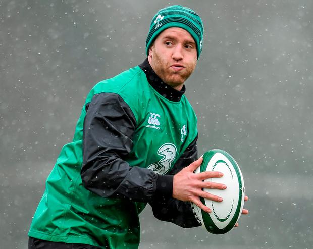 29 January 2015; Ireland's Luke Fitzgerald during squad training. Carton House, Maynooth, Co. Kildare. Picture credit: Stephen McCarthy / SPORTSFILE