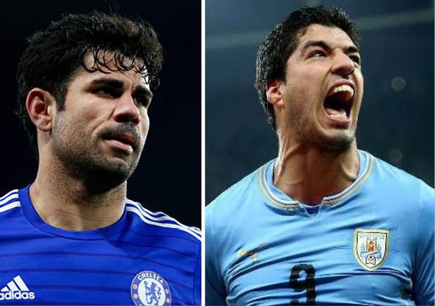 Diego Costa and Luis Suarez