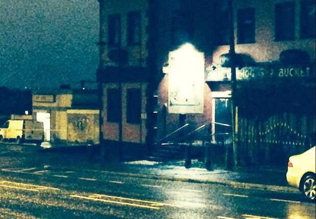 Scene of the shooting on the Oldpark Road. Photo: Rebecca Black