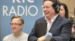 Marty Morrissey pictured at RTE Radio Studios in Dublin for Marty's Party on his popular afternoon Rte 1 Radio Show.