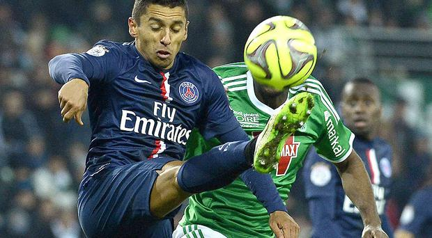 Paris Saint-Germain's Brazilian defender Marquinhos is still believed to be a Manchester United target.
