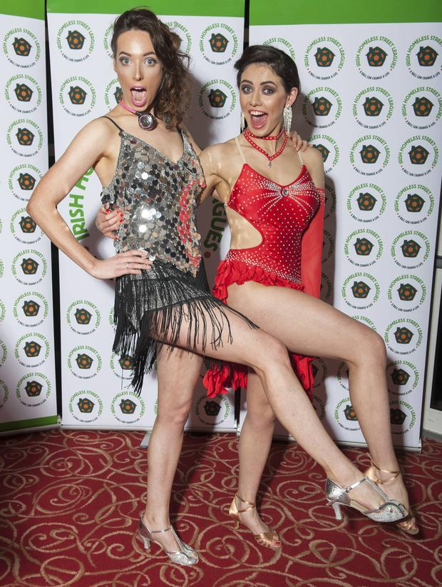 Kelly Donegan and Ciara O'Doherty at 'Strictly Spin' in aid of the