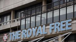 The entrance to the Royal Free Hospital in London Credit: Daniel Leal-Olivas/PA Wire