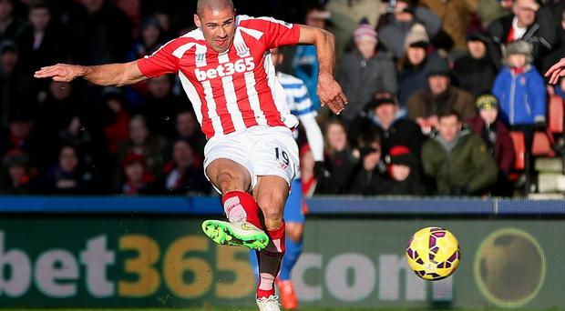 Jonathan Walters scores the opening goal