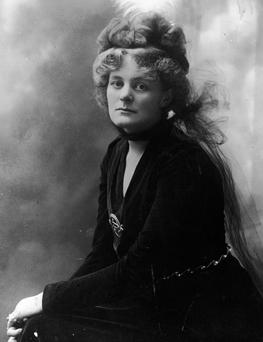 Portrait of Irish nationalist activist Maud Gonne McBride