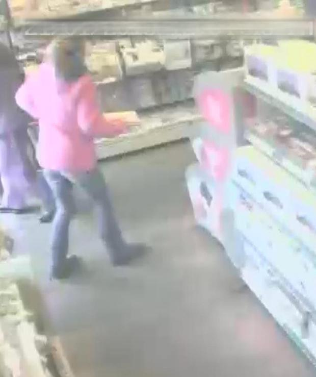 CCTV still issued by Dorset Police of Samantha Henderson, 25, in The Sweet Shop in The Square in Corfe Castle at 11.41am on the day she vanished. Credit: Dorset Police/PA Wire