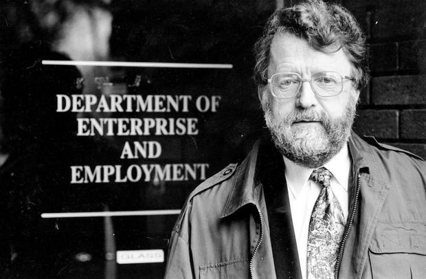 Former Irish Independent and 'Irish Press' business journalist and author, the late Colm Rapple.