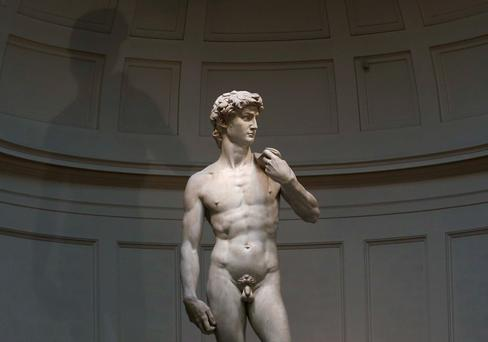 Michelangelo's statue of David. (Reuters/Alessandro Bianchi)