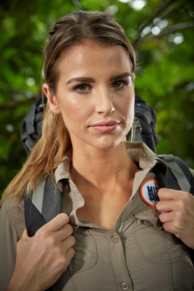 Vogue Williams in the forthcoming ITV show Bear Grylls' Mission Survive on ITV