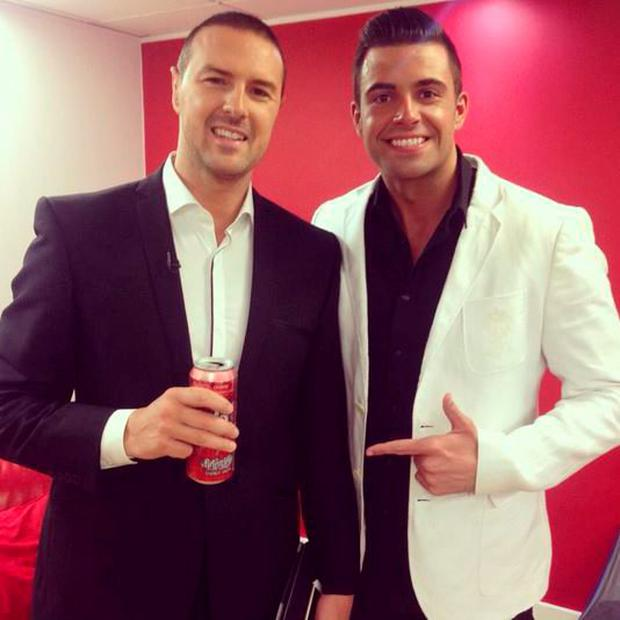 Karl Bowe and Paddy McGuinness backstage at 'Take Me Out'. Pic Karl Bowe Twitter
