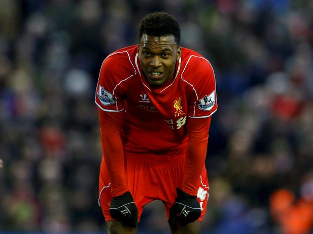 Liverpool's Daniel Sturridge reacts during their English Premier League soccer match against West Ham United