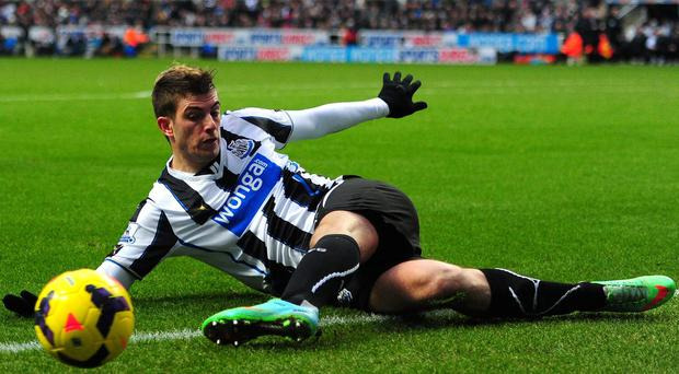 Newcastle have confirmed that Davide Santon will return to Inter Milan on an initial loan basis, three-and-a-half years after he was signed from the Italian club. Photo: Stu Forster/Getty Images