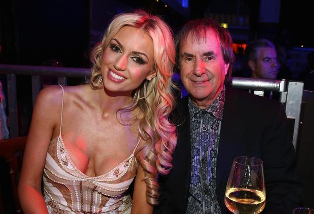 Chris de Burgh and his daughter Rosanna Davison attend the Lambertz Monday Night 2015 at Alter Wartesaal in Cologne, Germany. (Photo by Andreas Rentz/Getty Images)