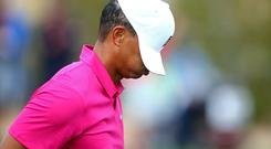 Tiger Woods can't hide his frustration at the Phoenix Open