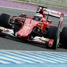 Kimi Raikkonen and his Ferrari were turning heads with their performance in pre-season testing at the Circuito de Jerez yesterday
