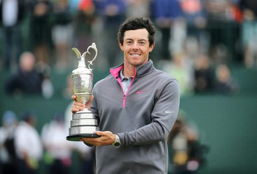 Rory McIlroy with the Claret Jug last year