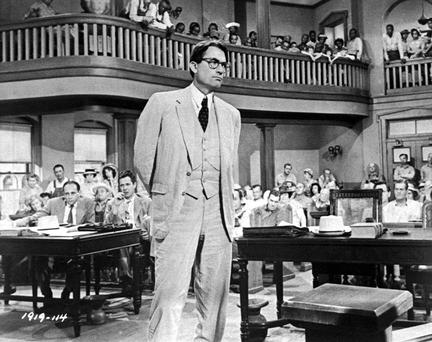 Gregory Peck as Atticus Finch in a scene from the film version of 'To Kill A Mocking Bird'.