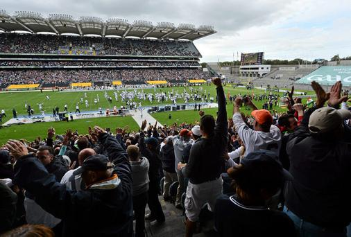 The GAA attracted criticism last August when the hosting of University of Central Florida and Penn State (pictured) forced the Kerry-Mayo All-Ireland semi-final replay on the road to the Gaelic Grounds in Limerick. Photo: Pat Murphy / SPORTSFILE
