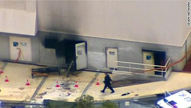 Explosion at Perth Mall