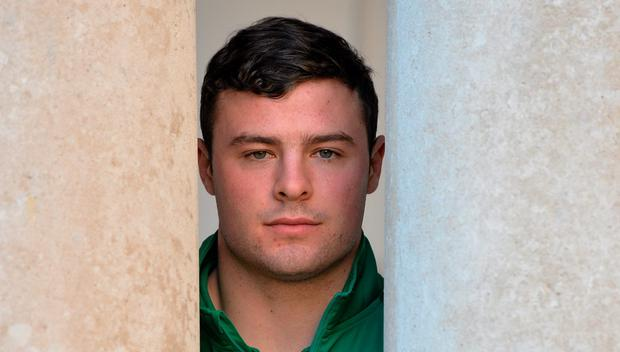 Robbie Henshaw after a press conference
