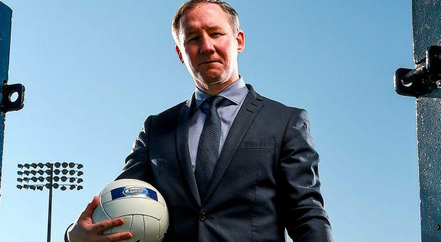 Dublin senior football manager Jim Gavin at the unveiling of Ballygowan and Energise Sport as the new Official Hydration Partners of Dublin GAA in a three year deal. Parnell Park, Dublin
