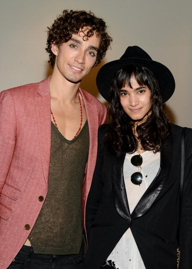 Actors Robert Sheehan and Sofia Boutella attend the premiere of