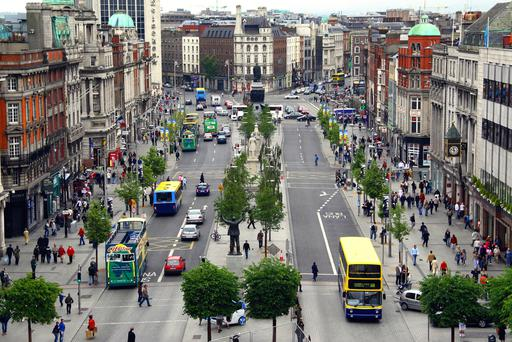 View of Dublin's O'Connell Street looking towards the south of the city. Photo taken from the Spire. Photo: Paul O'Connell