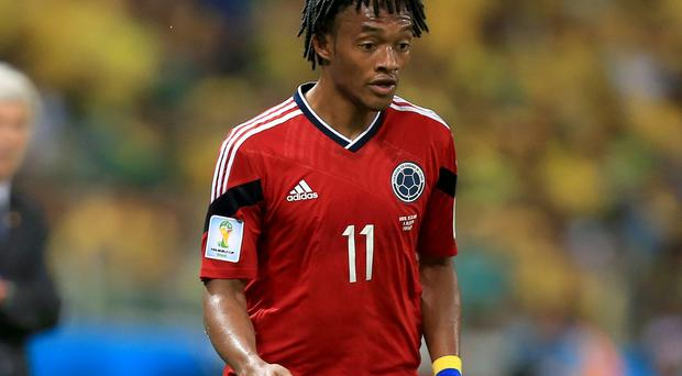 Juan Cuadrado has been included on both of Chelsea's Premier League and Champions League squad lists after joining in a £23.3m deal that will rise to £26.8m. Photo: Mike Egerton/PA Wire