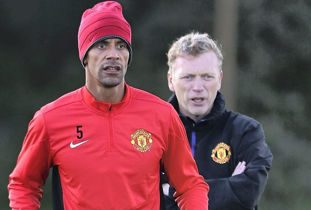 David Moyes has dismissed Rio Ferdinand's claim that the Scot made the Manchester United players train in a public park in Munich ahead of their Champions League quarter-final defeat to Bayern. Photo: Matthew Peters/Man Utd via Getty Images