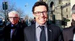 Rory McIlroy outside court earlier this week. Photo: Courtpix