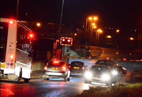 Rail services have been disrupted by a security alert at Lurgan, Co Armagh