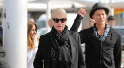 Ellen Barkin at George Clooney's wedding