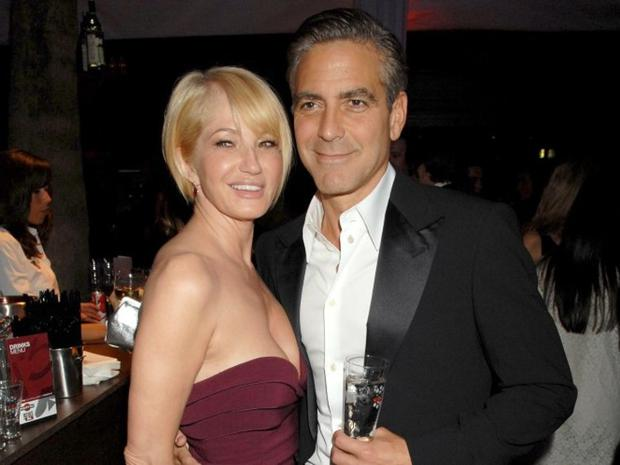 Ellen Barkin and George Clooney