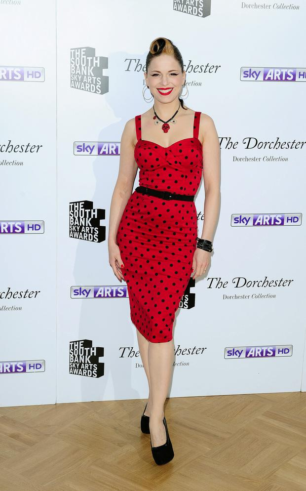 Imelda May arriving at the South Bank Sky Arts Awards