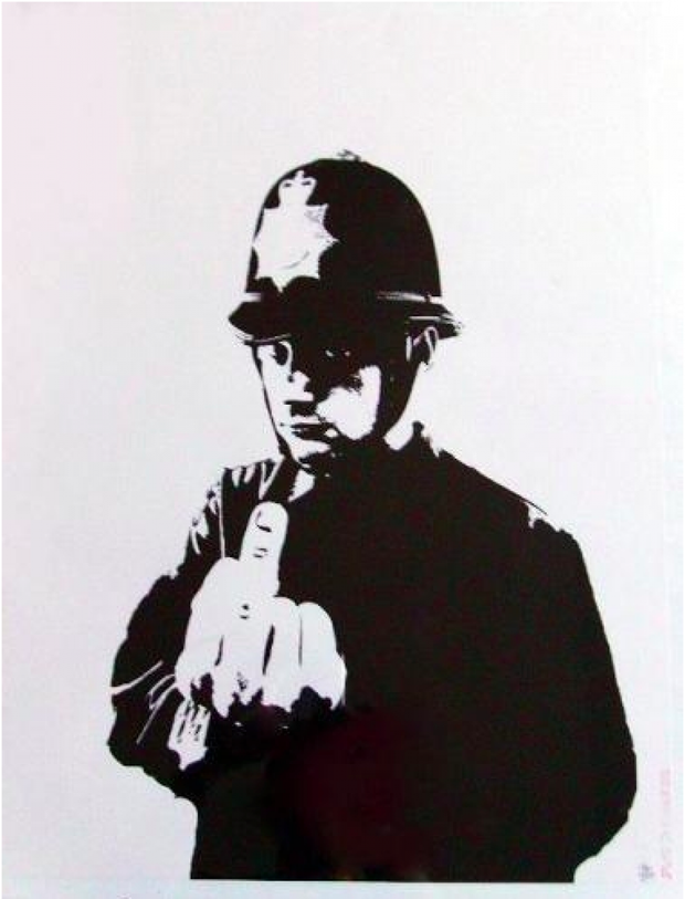 Rude Copper by Banksy