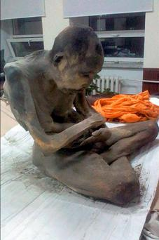 A 200-year-old mummified monk has been discovered in Mongolia