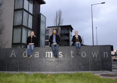 Pictured are Adamstown residents Bernard and Nicole McGinley, and neighbour Elly Parker (right). PIC: DAVE MEEHAN