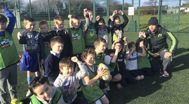 Children from second to sixth class enjoyed coaching sessions