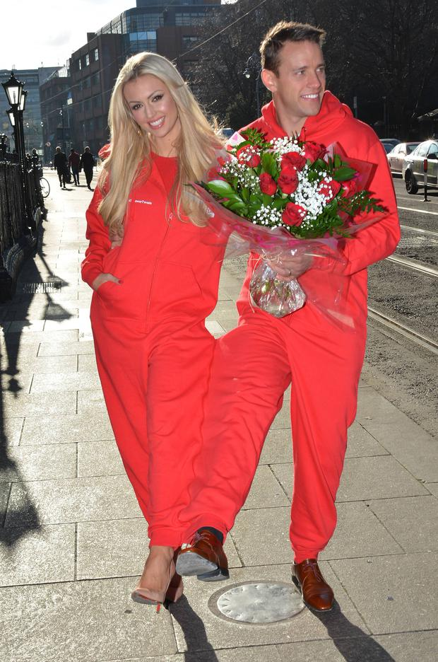 Celebrating their first Valentine's as a married couple Rosanna Davison & husband Wesley Quirke launch JUST EAT's Valentine's survey results & JUST EAT's Aromatic night in, The Dean Hotel, Dublin, Ireland