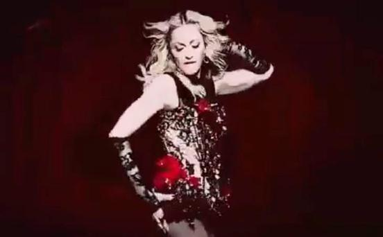 Madonna in a still from her 'Living for Love' video