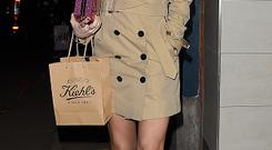 Laura Whitmore leaves The Library Club in Covent Garden on February 5, 2015 in London, England
