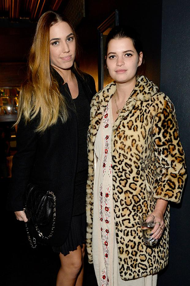 Amber Le Bon and Pixie Geldof attend the Kiehl's VIP Dinner at The Library Club on February 5, 2015 in London, England