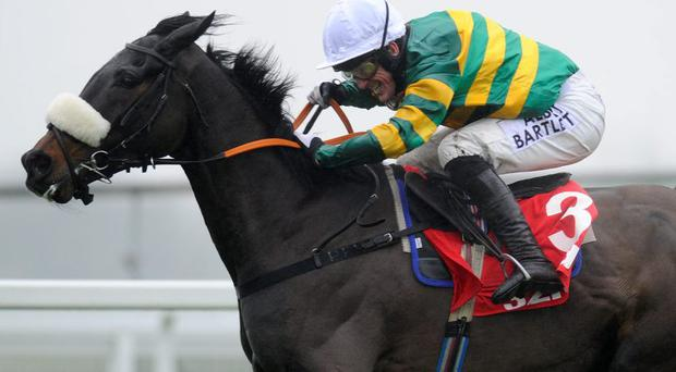 Tony McCoy riding Mr Mole, clear the last to win the Handicap Steeple Chase at Sandown. The seven-year-old is back in action for today's Game Spirit Chase at Newbury